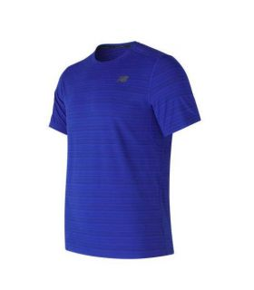 Camiseta de running New Balance Fontom MC Hombre Azul. Oferta y Comprar online