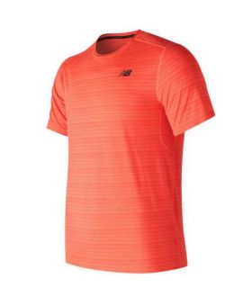 Camiseta de running New Balance Fontom MC Hombre Naranja