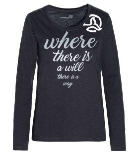 Camiseta de Montaña Ternua Fradilon L/S Mujer Negro