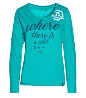 Camiseta de Montaña Ternua Fradilon L/S Mujer Azul