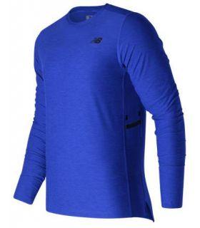 Camiseta de Montaña New Balance N Transit Ls Top Hombre Azul