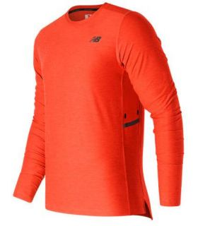 Camiseta de Montaña New Balance N Transit Ls Top Hombre Naranja. Oferta y Comprar online