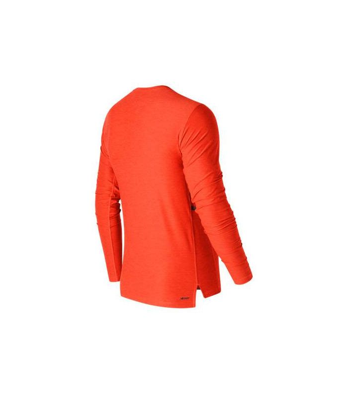 Compra online Camiseta de Montaña New Balance N Transit Ls Top Hombre Naranja en oferta al mejor precio