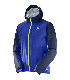 Chaqueta trail running Salomon Bonatti Wp Hombre Azul Amarillo. Oferta y Comprar online