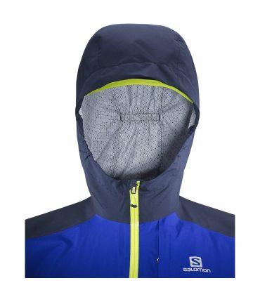 Chaqueta trail running Salomon Bonatti Wp Hombre Azul Amarillo