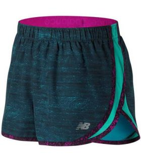 Short Trail Running New Balance Accelerate 2.5 Inch Printed Mujer Azul