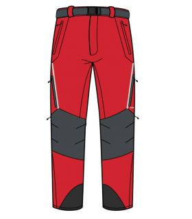 Pantalones de Montaña Trangoworld Prote Extreme DS Hombre Rojo