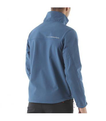Chaqueta Soft Shell +8000 Sherpi Hombre Azul Petroleo