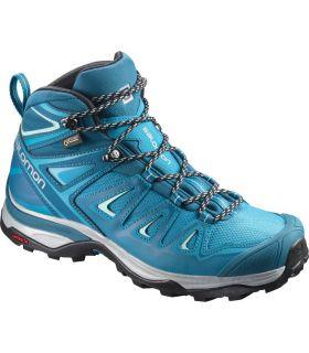 Botas de montaña Salomon X Ultra 3 Mid GTX Mujer Azul. Oferta y Comprar online