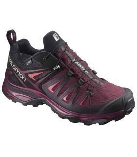 Zapatillas de trekking Salomon X Ultra 3 GTX Mujer Rojo. Oferta y Comprar online
