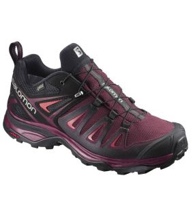 Zapatillas de trekking Salomon X Ultra 3 GTX Mujer Rojo