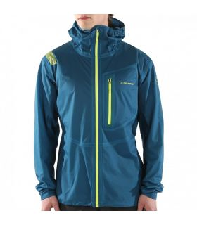 Chaqueta trail running La Sportiva Hail Hombre Azul Amarillo. Oferta y Comprar online