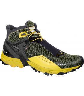 Botas de montaña Salewa MS Ultra Flex Mid GTX Hombre Negro Amarillo. Oferta y Comprar online