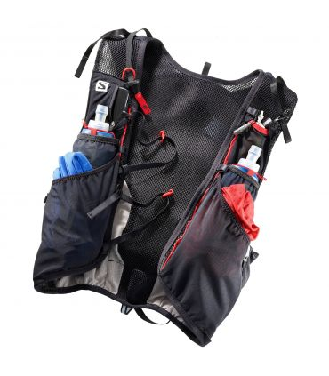 Mochila trail running Salomon Adv Skin 12 Set Negro