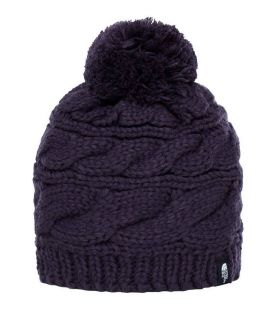 Gorro de punto The North Face Cable Pom Morado