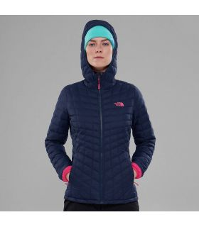 Chaqueta The North Face Thermoball Hoodie Mujer Azul Rosa