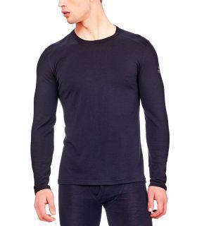 Camiseta térmica IceBreaker Oasis LS Crewe Hombre Negro. Oferta y Comprar online