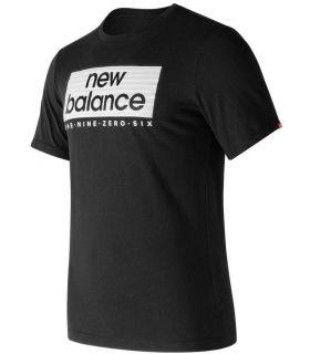 Camiseta New Balance Essentials Boxer Tee Hombre Negro. Oferta y Comprar online