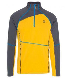 Camiseta Montaña Ternua Laguut 1/2 Zip Hombre Amarillo