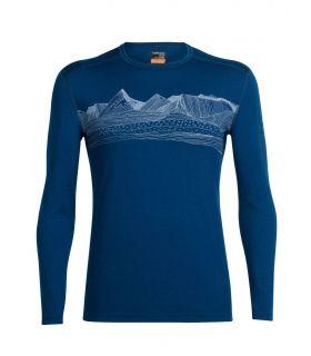 Camiseta térmica IceBreaker Oasis LS Crewe Hombre Azul. Oferta y Comprar online
