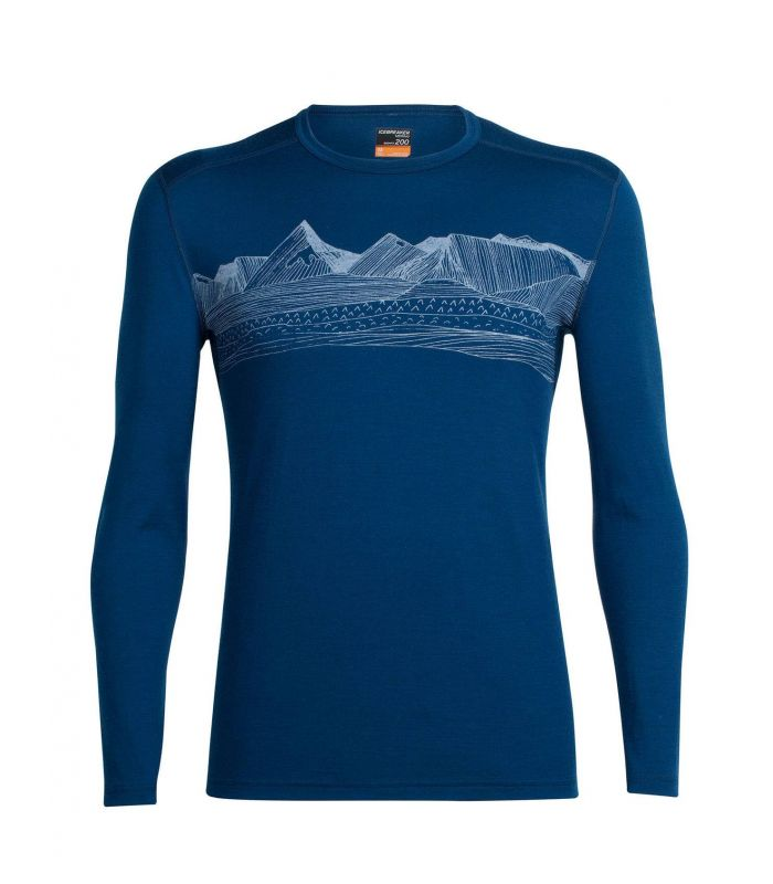 Compra online Camiseta térmica IceBreaker Oasis LS Crewe Hombre Azul en oferta al mejor precio