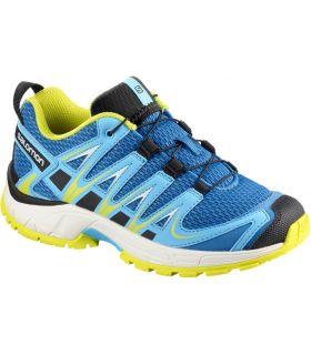 Zapatillas Trail Running Salomon Xa Pro 3d J Niños Azul Amarillo. Oferta y Comprar online