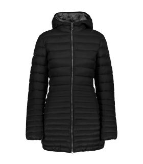 Parka Campagnolo Fix Hood Mujer Negro Gris