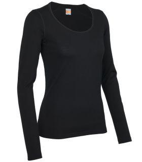 Camiseta térmica IceBreaker Oasis LS Scoop Mujer Negro. Oferta y Comprar online
