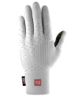 Guantes de Running Compressport 3D Thermo Seamless Running Gloves Blanco