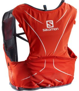 Mochila trail running Salomon Adv Skin 5 Set Rojo Negro