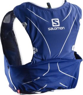 Mochila trail running Salomon Adv Skin 5 Set Azul Blanco