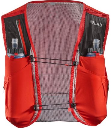 Mochila trail running Salomon S-Lab Sense Ultra 5 Set Rojo