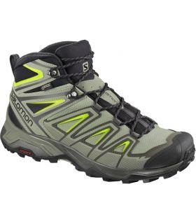 Botas de montaña Salomon X Ultra 3 Mid GTX Hombre Verde Amarillo. Oferta y Comprar online