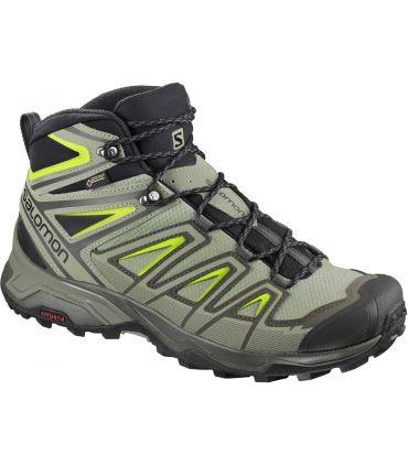 Botas de montaña Salomon X Ultra 3 Mid GTX Hombre Verde Amarillo