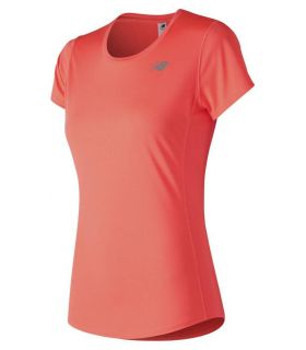 Camiseta trail running New Balance Accelerate MC Mujer Coral