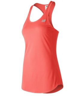 Camiseta New Balance Accelerate Tank Mujer Coral
