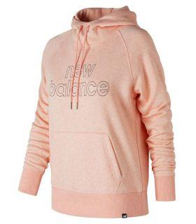 Sudadera New Balance Essentials Pullover Hoodie Mujer Rosa