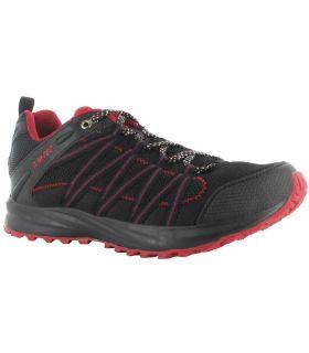 Zapatillas Hi-Tec Sensor Trail Lite Hombre Negro Rojo
