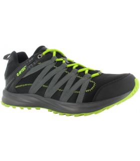 Zapatillas Hi-Tec Sensor Trail Lite Hombre Negro Lima. Oferta y Comprar online