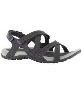 Sandalia Hi-Tec Waimea Falls Mujer Carbón Púrpura. Oferta y Comprar online