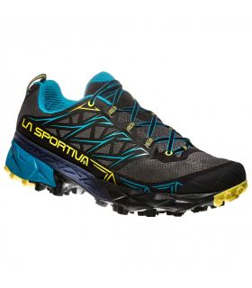 Zapatillas trail running La Sportiva Akyra Hombre Gris Azul. Oferta y Comprar online