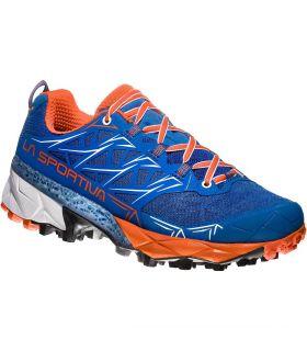 Zapatillas trail running La Sportiva Akyra Mujer Azul Naranja. Oferta y Comprar online