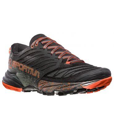 Zapatillas trail running La Sportiva Akasha Hombre Negro Naranja