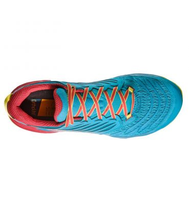 Zapatillas trail running La Sportiva Akasha Hombre Azul Rojo