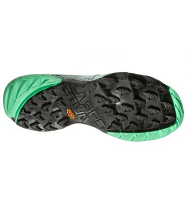 Zapatillas trail running La Sportiva Akasha Mujer Gris Verde
