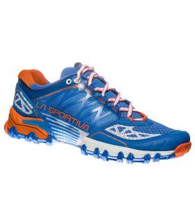 Zapatillas trail running La Sportiva Bushido Mujer Azul Naranja