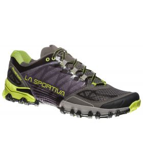 Zapatillas trail running La Sportiva Bushido Hombre Gris Verde