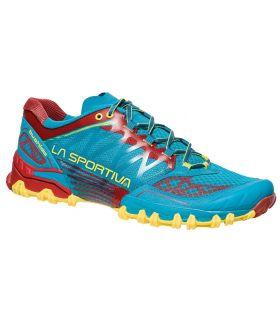 Zapatillas trail running La Sportiva Bushido Hombre Azul Rojo