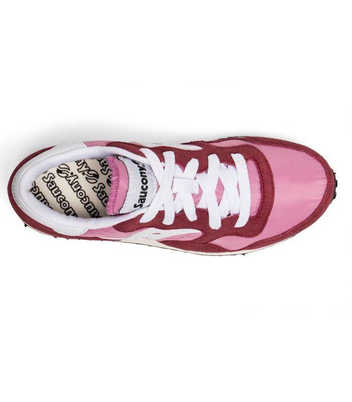Compra online Zapatillas Saucony DXN Trainer Vintage Mujer Burdeos en oferta al mejor precio