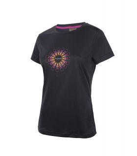 Camiseta TrangoWorld Sorores Mujer Negro Rosa